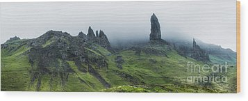 Storr In The Clouds Wood Print by Matt  Trimble