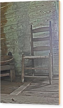 Story Chair Wood Print by Cheri Randolph