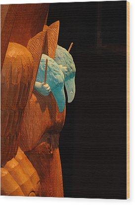 Story Pole Wood Print