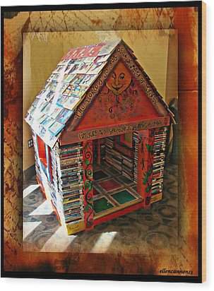 Storybook Ending Wood Print by Ellen Cannon