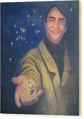 Storyteller Of Stars - Artwork For The Science Tarot Wood Print