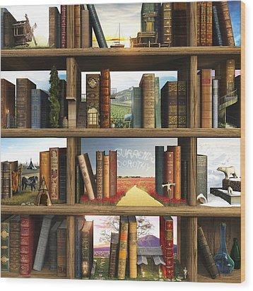 Storyworld Wood Print by Cynthia Decker