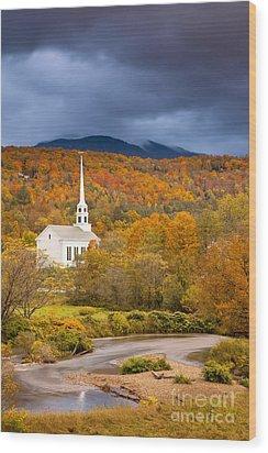 Stowe Church Wood Print by Brian Jannsen