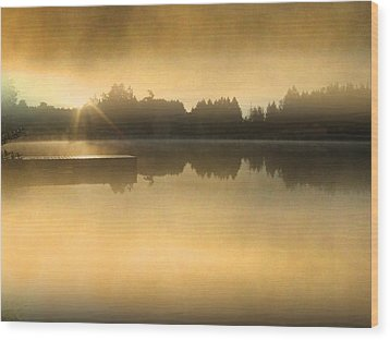 Stowell Lake On Salt Spring Island Wood Print by Lyn  Perry