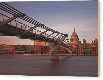 St.paul's From The South Bank Wood Print