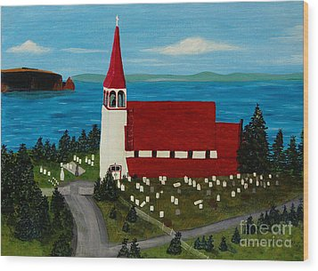 St.philip's Church 1999 Wood Print by Barbara Griffin