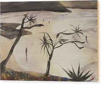 Stradbroke Beach Wood Print