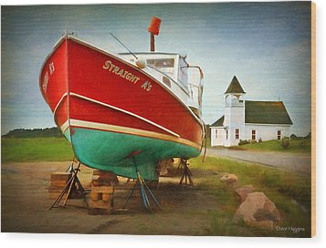 Straight A's  Beals Deals Island  Maine Wood Print by Dave Higgins