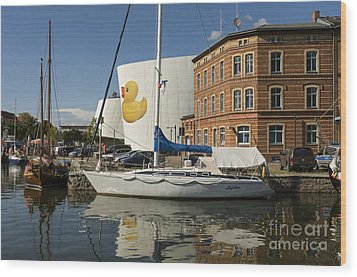 Stralsund Harbour Germany. Wood Print by David Davies
