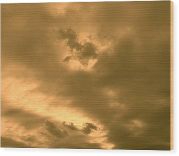 Strange Atmosphere Wood Print