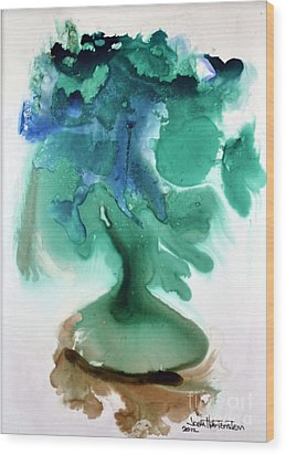 Wood Print featuring the painting Strange Compote by Joan Hartenstein