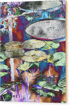 Strange Daze Wood Print by Bobbie Barth