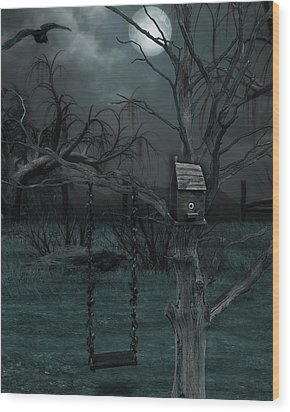 Strange Eyedea Wood Print
