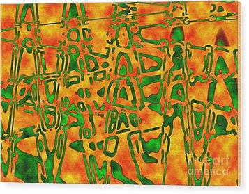 Strange Hieroglyphs Wood Print by Mark Blauhoefer