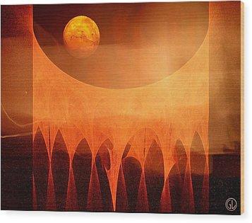 Strange Moon Wood Print by Gun Legler