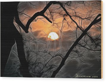 Wood Print featuring the photograph Strange Morning by EricaMaxine  Price