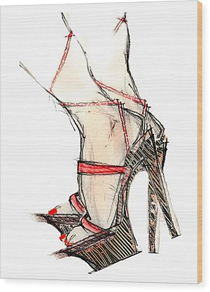 Strap Ons Wood Print by Carolyn Weltman