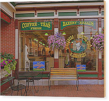 Strasburg Country Store Wood Print by Mary Beth Landis