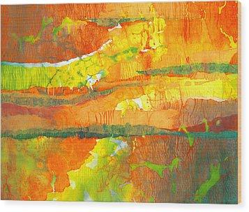 Strata Wood Print