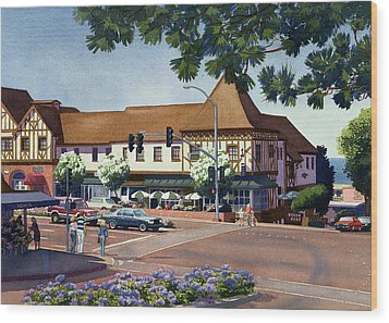 Stratford Square Del Mar Wood Print by Mary Helmreich