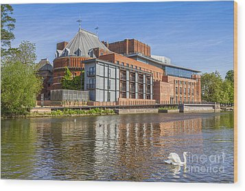 Stratford Upon Avon Royal Shakespeare Theatre Wood Print by Colin and Linda McKie
