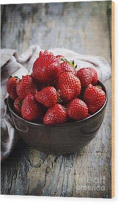 Strawberries Wood Print by Jelena Jovanovic