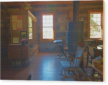 Strawberry Arizona School House Wood Print by Richard Jenkins