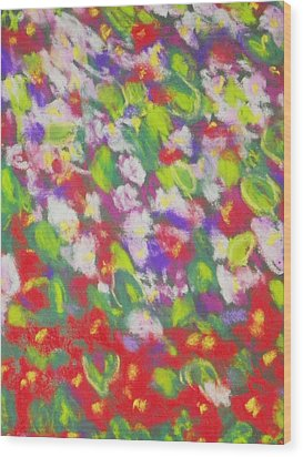 Strawberry Begonias II Wood Print