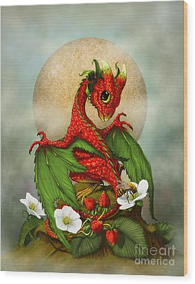 Strawberry Dragon Wood Print by Stanley Morrison