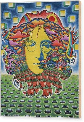 Strawberry Fields For Lennon Wood Print by Jeff Hopp