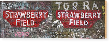 Strawberry Fields Forever Wood Print by Semmick Photo