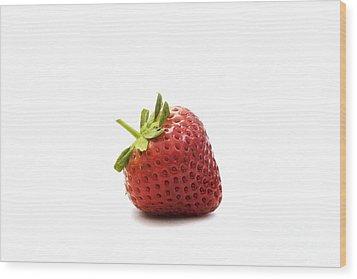 Strawberry II Wood Print by Natalie Kinnear