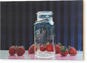 Strawberry Jam Wood Print by Arlene Steinberg