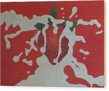 Strawberry Wood Print by Sven Fischer