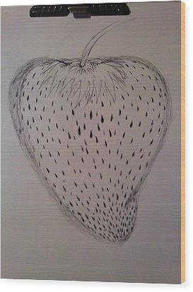 Strawberry Wood Print by Thommy McCorkle