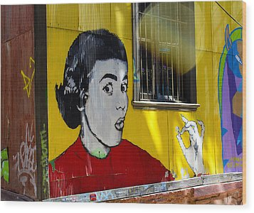 Street Art Valparaiso Chile 7 Wood Print by Kurt Van Wagner