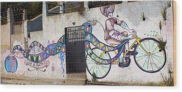 Street Art Valparaiso Chile Wood Print by Kurt Van Wagner