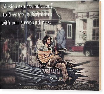 Street Beats Inspiration Wood Print by Melanie Lankford Photography