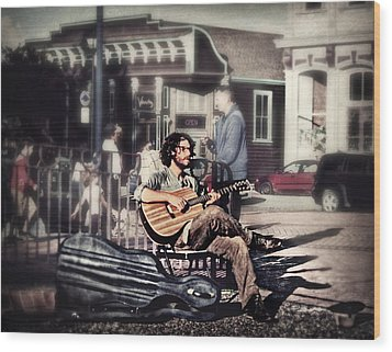 Street Beats Wood Print by Melanie Lankford Photography