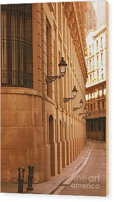 Street In Barcelona Wood Print by Sophie Vigneault