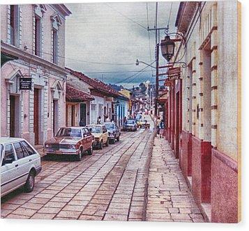 Street In Las Casas Wood Print