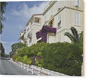Wood Print featuring the photograph Street In Monaco by Allen Sheffield