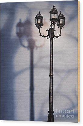 Street Lamp At Night Wood Print by Oleksiy Maksymenko