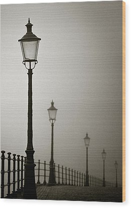 Street Lamps Wood Print by Dave Bowman