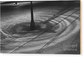 Wood Print featuring the photograph Street Light by Inge Riis McDonald