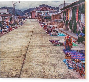 Street Market Wood Print