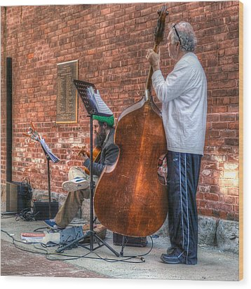 Street Musicians - Great Barrington - No. 2 Wood Print by Geoffrey Coelho