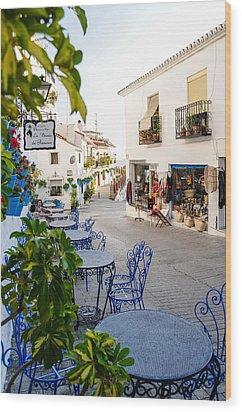 Street Of Mijas Wood Print