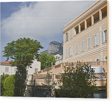 Wood Print featuring the photograph Street Of Monaco by Allen Sheffield