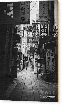 Street Of Signboard Wood Print by Yoo Seok Lee